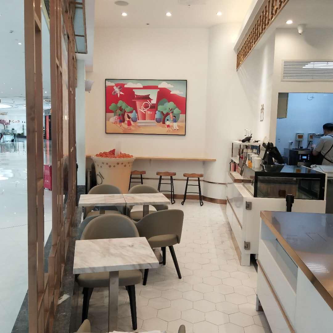 奶茶店装修,墙体和地面材料怎么选?