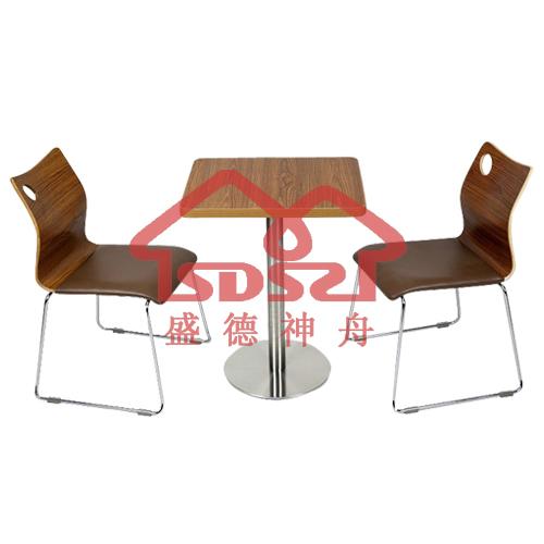 肯德基桌椅麦当劳奶茶店咖啡店甜品店两人活动桌椅快餐店深色桌椅