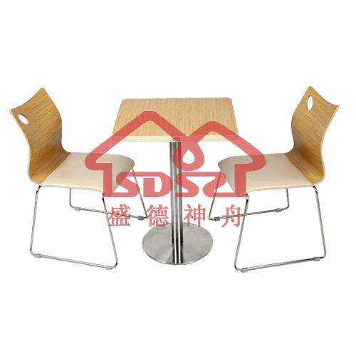 肯德基桌椅麦当劳奶茶店咖啡店甜品店两人活动桌椅快餐店浅色桌椅