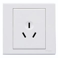 施耐德电气 三极三孔 空调墙壁开关电源 插座面板 16A 如意 白色