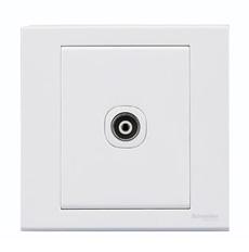 施耐德电气开关插座 单联电视插座面板 墙壁弱电有线TV 如意 白色