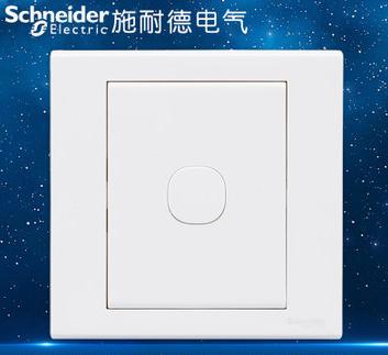 施耐德电气 空白面板 开关电源插座白板 暗盒挡板盖板 如意 白色
