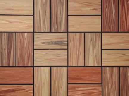 红狮木纹砖快餐店装修材料地砖木纹砖