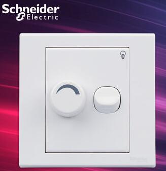 施耐德电气开关插座 单联风扇调速开关面板 250W 墙壁调速器 如意