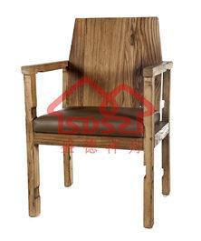 漫咖啡桌椅老门板桌椅老榆木咖啡桌椅茶桌实木单人活动椅