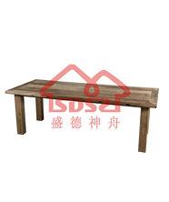 漫咖啡桌椅老门板桌椅老榆木咖啡桌椅茶桌实木六人条桌