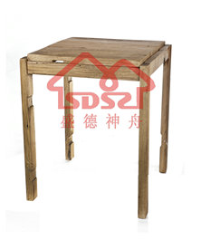 漫咖啡桌椅老门板桌椅老榆木咖啡桌椅茶桌实木两人方桌