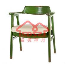 漫咖啡餐厅咖啡店专用椅子做旧复古靠背椅