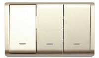 施耐德电源插座开关面板 三位三开三联双控