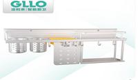 GLLO洁利来多功能挂壁式太空铝双层收纳架置物架永不生锈加厚板材