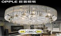 欧普 客厅主卧室led水晶吸顶灯具圆形大气现代简约温馨可调光