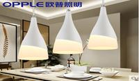 欧普照明 led吊灯餐厅灯具 客厅三头餐吊灯饰 创意个性吧台
