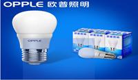 欧普照明 led灯泡e14e27暖白黄节能3w球泡小螺口螺旋超亮光源单灯