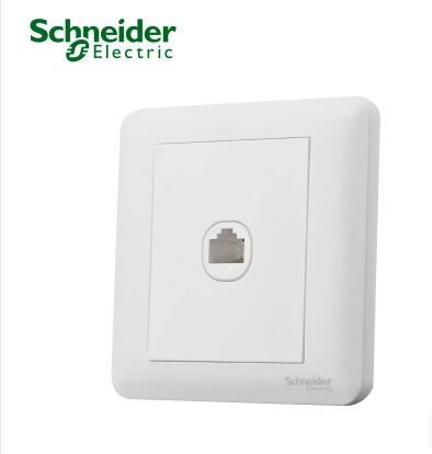 施耐德开关插座面板单联信息插座电脑插座网络插